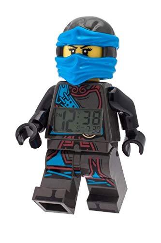 LEGO–Despertador Lego Ninjago Time Twins Nya–azul y negro