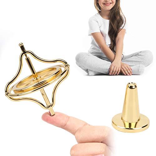 Veloraa Juguete de giroscopio, giroscopio Resistente y Estable antigravedad con Soporte para Adultos para Regalo Educativo para descompresión para niños