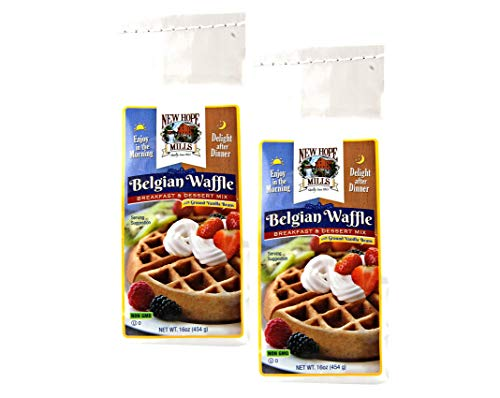 New Hope Mills Easy To Make Belgian Waffle Mix Two 16 oz Bags