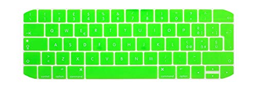 EU Italian version For 2019 Macbook pro13 A2159 15pro keyboard cover Color keyboard cover For touch bar A1706 A1707 A1989 A1990-Candy green