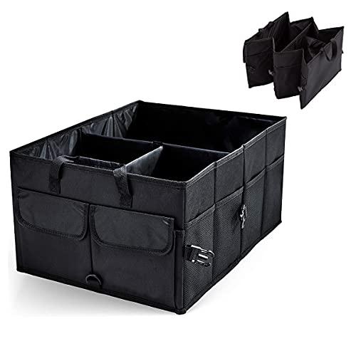 Poner en orden el almacenamiento del coche Caja de almacenamiento de coches de gran capacidad Organizador de troncales de coche Durable placible de carga herramienta de almacenamiento automático camio