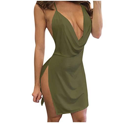 LILICAT Mujer Vestido de Fiesta Mini Vestido Hombros Descubiertos Ajustado Slim Vestidos Delgados Discoteca Noche