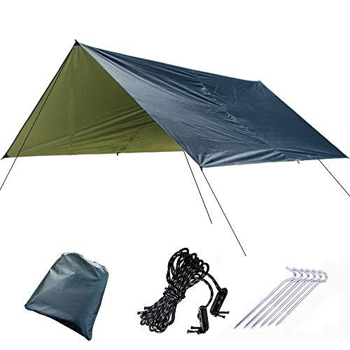 GND Étanche Protection UV Hamac Pluie Mouche Tente Bâche Multi Fonction Camping Bâche Plage Tente Ombre Camping Parasol Auvent