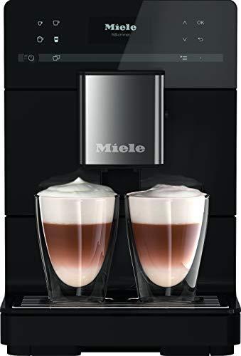 Miele CM 5300 Kaffeevollautomat / OneTouch for Two-Zubereitung / automatische Spülprogramme / komfortable Reinigungsprogramme / entnehmbare Brüheinheit / Edelstahl-Kegelmahlwerk / schwarz