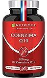 Coenzima Q10 100% Natural   Potente Antioxidante Piel Colesterol   CoQ10 Anti Edad Arrugas Líneas de Expresión Regenerador Celular Sistema Inmunológico   120 Cápsulas Fabricado en Francia