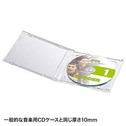 『サンワサプライ CD・DVD・BDケース 2枚収納×5枚セット 厚さ10mm クリア FCD-22CN』の4枚目の画像