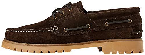 Marca Amazon - find. Leather, Náuticos Hombre, Marrón (Marron), 47 (US 13)