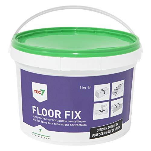 Tec7 Floor Fix/Zweikomponenten-Epoxidmörtel | 1KG | Geeignet für Innen- und Außenanwendungen, Stärker als Beton, Beständig gegen starken Verkehr