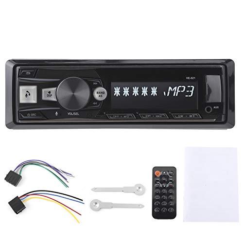 Fydun Car Stereo Receptor 12V USB Carga rápida Manos libres Llamadas Multifunción Car Radio FM Reproductor de audio Bluetooth con retroiluminación de 7 colores