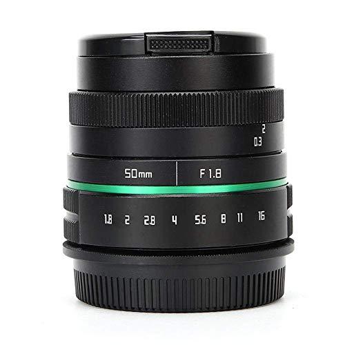 LYHY Lentille d'apterture 50MM F1.8, Objectif d'ouverture d'appareil Photo sans Miroir, Objectif de Mise au Point Manuelle Demi-Cadre APS-C modèle CL-Mil5018N-C (pour Monture Olympus)