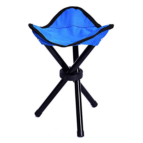 Folding Camping Stool Portable Fishing Chair Seat for Camping Fishing Hiking Gardening and Beach (Triangle,Blue)