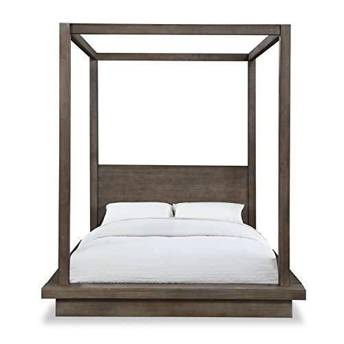 Modus Melbourne Canopy Bed, King, Dark Pine