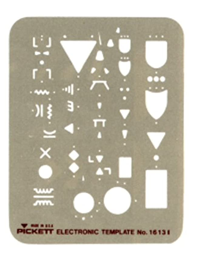 Pickett Electronic Template, Most Used Logic and Electronic Symbols (1613I)