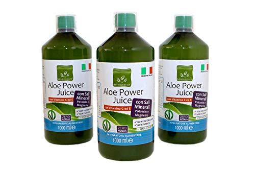 Benessence - Aloe Power Juice: 96% Aloe Vera + Vitamine C + Vitamin E + Potassium + Magnesium- 3L