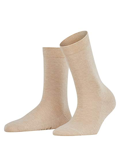FALKE Damen Socken Family - 94prozent Baumwolle, 1 Paar, Beige (Sand Melange 4659), Größe: 39-42