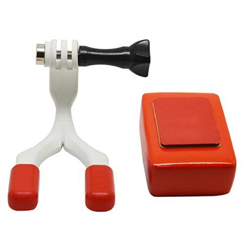 Yushu Conector Surfing Boca Montaje Conjunto Para GoPro Para Cámara Hero 6 Accesorios Surf Braces (Material: Plástico, Silicona No tóxica)