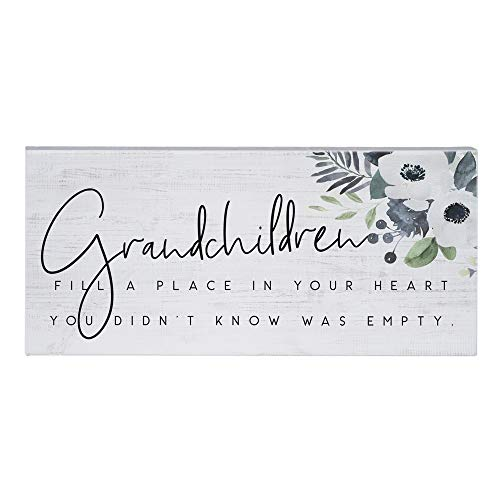 Simply Said, INC Inspire Boards- Grandchildren Fill Your Heart, 12 x 5.5 in Distressed Rustic Sign ISB1280