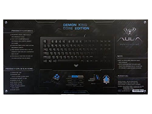 DUDUMEIMEI Aula 2014 Mechanical Demon King Gaming Mechanical Keyboard Blue Switch USB Wired with Laser Carving