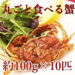 ソフトシェルクラブ 70/100サイズ 1kg 【冷凍】/(2箱)