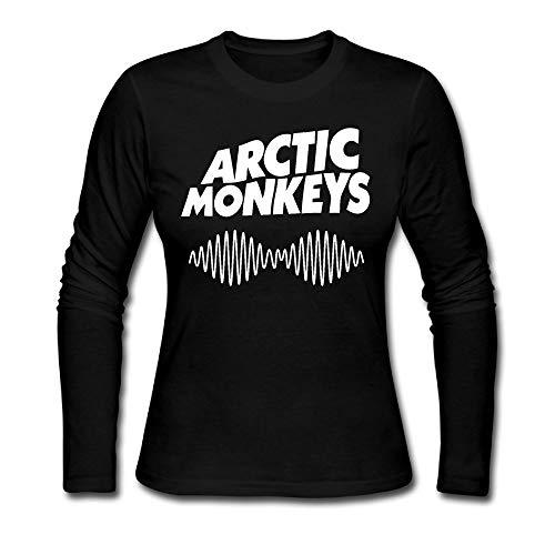 Womens Long Sleeve T-Shirt Arctic Monkey Cute Shirt XL Black