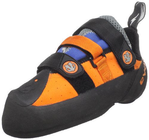 evolv Men's Shaman Climbing Shoe,Orange/Blue,12.5 M US
