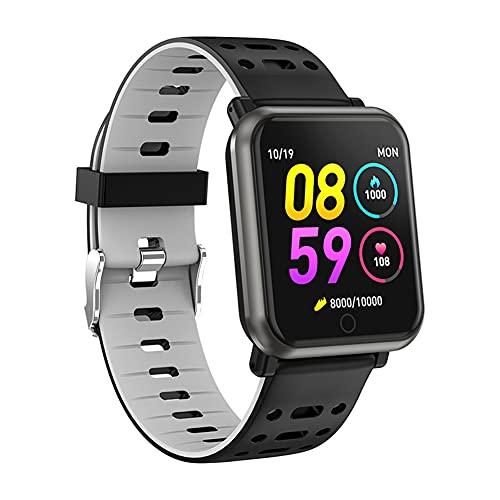 ZOZIZZ Smart Watch, Presión Arterial Monitor de frecuencia cardíaca IP68 Reloj Deportivo a Prueba de Agua Rastreador de Fitness Multifuncional, Plata