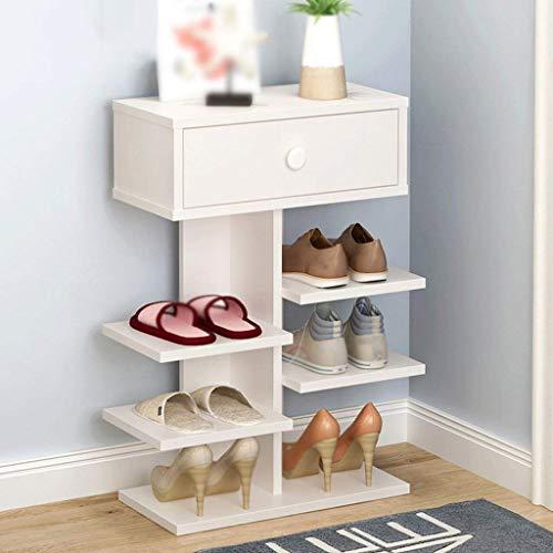 PIVFEDQX Zapatero Zapatero Zapatero Muebles Sala de Estar Librería Equipaje Estante Multicapa Fácil ecológico Caja de Zapatos a Prueba de Polvo (Color: Style1)
