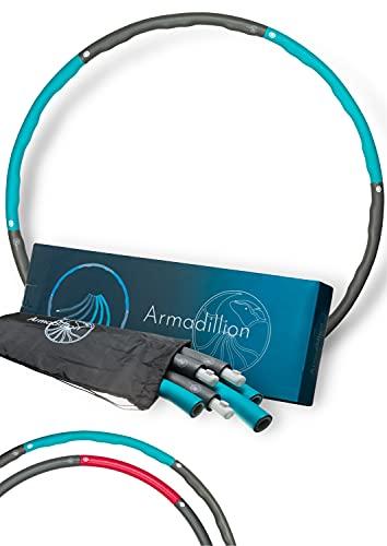 Armadillion Hula Hoop Reifen für Erwachsene ; 6 Segmente [Stabil, Kein Wabbeln] 1,2 kg; Fitnessgerät für Zuhause, Zerlegbar, Inklusive Praktischem Beutel