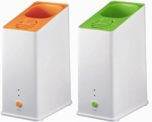 CCPスチーム式ペットボトル加湿器アロマ対応ライムグリーンKZ-H60-LG