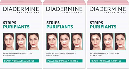 Diadermine Pack de 3 x 6 Strips Purifiants Anti Points Noirs/Impuretés