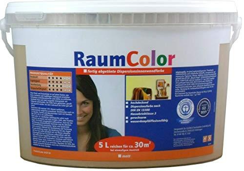 Wilckens Raumcolor Wandfarbe Dispersions-Innenfarbe 5 Liter Farbton Wählbar, Farbe:Apricot