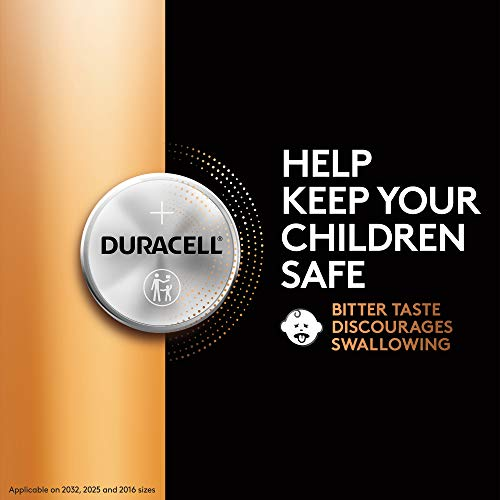 Duracell - 2032 3V Lithium Coin Battery - with Bitter Coating - 1 Count