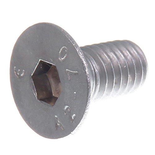 SECCARO Tornillo avellanado M6 x 12 mm, acero inoxidable V2A VA A2, DIN 7991 / ISO 10642, hexágono interior, 20 piezas