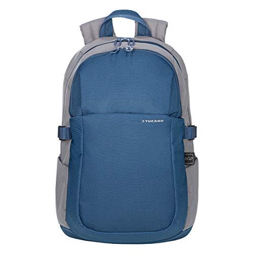 Tucano - Zaino Porta Pc 15.6' Pollici, Compatibile con MacBook PRO 16. Backpack Bip, Zaino Capiente da Ufficio e università, in Poliestere Riciclato