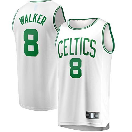 OYFFL Kemba - Sudadera de baloncesto para hombre con diseño de Boston Traning Jersey Celtics #8 Fast Break Player Jersey Blanco - Association Edition-S