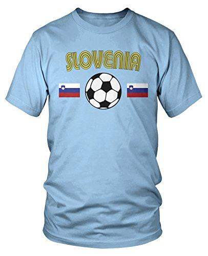 Amdesco - Camiseta de fútbol esloveno para hombre - Azul - Large