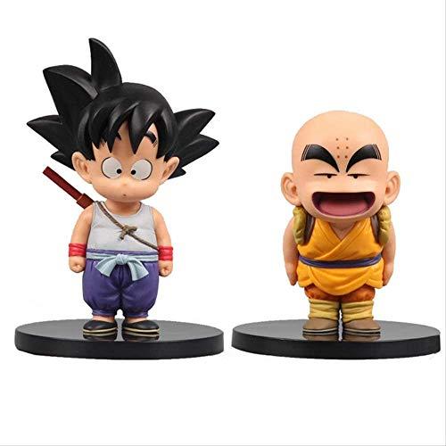 TQGG Dragon Ball Z Son Goku Krillin Figura Infantil Juguetes 12-15Cm, PVC Figura de acción Anime DBZ Colección Modelo Juguetes para Regalo Infantil (2 Piezas)