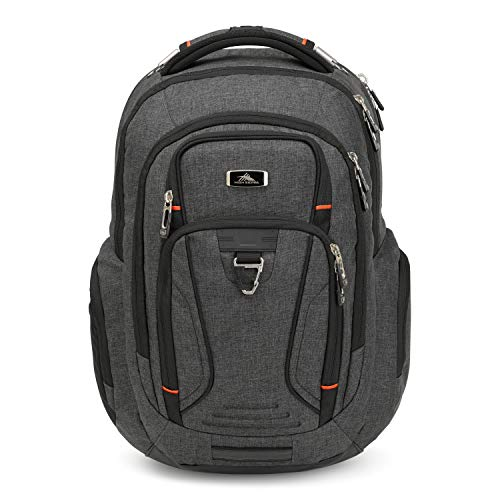 High Sierra Endeavor Business Elite Laptop Backpack, One Size, Mercury Heather