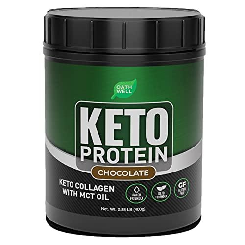 OATHWELL Keto Chocolate Protein Powder Meal...