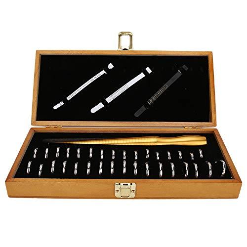 Ring Sizer-Messwerkzeug, Ringdorn-Set, Werkzeugsatz zum Messen der Fingergröße, Ringherstellungswerkzeuge für das Schmuckgrößen-Messwerkzeug (Honkong-Größe)