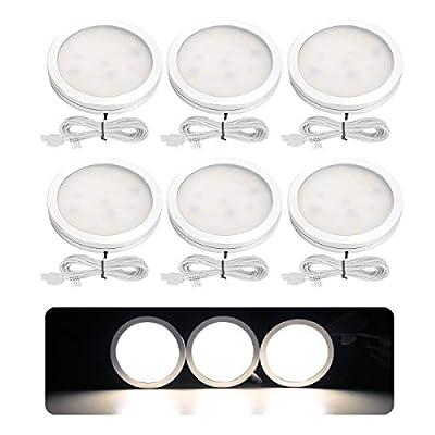LE LED Under Cabinet Lighting Fixtures, Puck Lights Kit