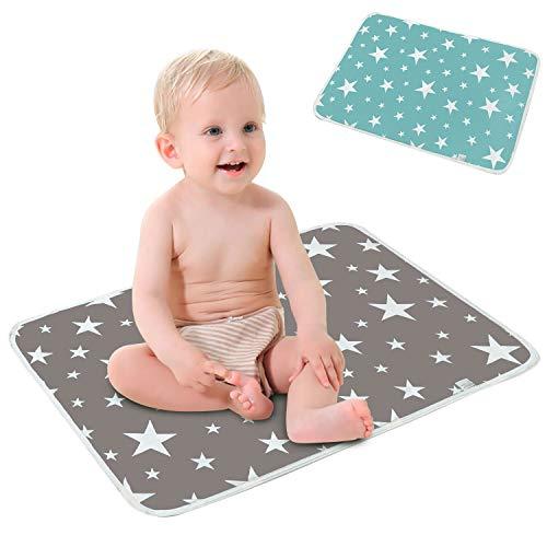 Materassino per letto multifunzione impermeabile, fasciatoio (50 * 70 cm), materassino per neonati lavabile, riutilizzabile, traspirante, a prova di perdite , Fasciatoio da viaggio portatile