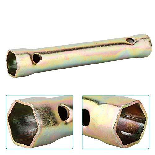 Llave de enchufe, herramienta de doble rendimiento fuerte y resistente con llave de bujía de junta de tubería