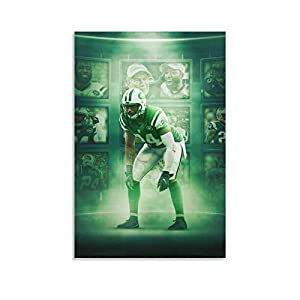 Darrelle Revis Poster Print, American Football Superstar,Sports Poster Artwork, Wall Art, Original Art Poster Gift Poster Decorative Painting Canvas Wall Art Living Room Posters Bedroom Painting 20x30