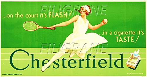 Herbé TM Chesterfield Zigarettenanzünder, 60 x 80 cm, Reproduktion, Vintage/Retro
