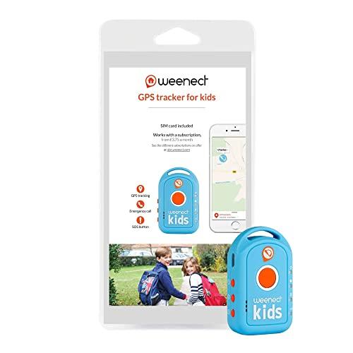 Weenect Kids - Localizzatore GPS per bambini con batteria a lunga durata e telefono d'emergenza
