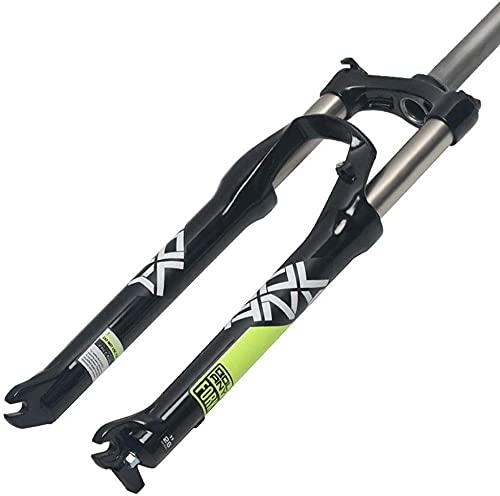XiangRuiDa Bicicleta de montaña Frontal Tenedor 26/27 5/29 Pulgadas Bicicleta de montaña aleación de Aluminio Bloqueo de Resorte Montaje de suspensión PM Freno de Disco Piezas de Bicicleta-CBeautiful