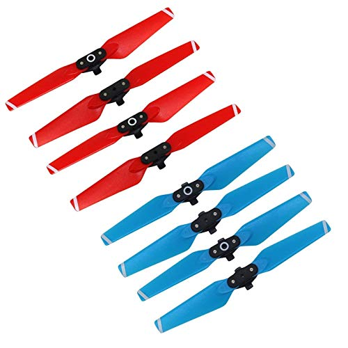 RC GearPro Props Blades Replacement Propellers 4730F Set Compatible for DJI Spark Drone, 4PCS/Set (Blue+red)