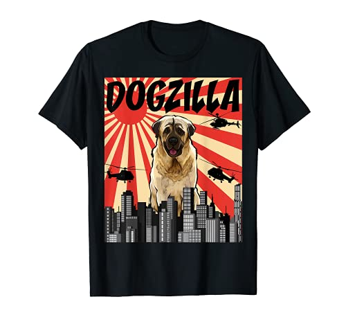 Funny Retro Japanese Dogzilla Anatolian Shepherd Dog T-Shirt