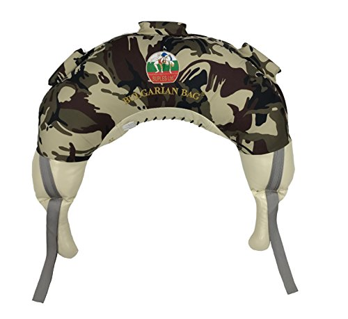 Bulgarian Bag Suples Camouflage Canvas (Large, 37 lbs) Free Instructional DVD Included! Fitness, Crossfit, Wrestling, Judo, Grappling, Functional Training, MMA, Sandbag, Powerbag, Cardio, Strength